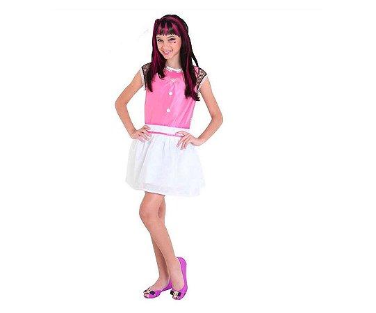 Fantasia Draculaura Pop Tam M 6 a 8 anos
