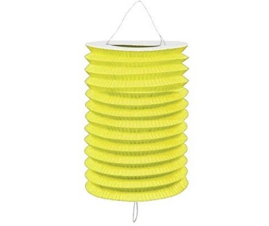 Lanterna Sanfonada Amarela 10 cm diâmetro