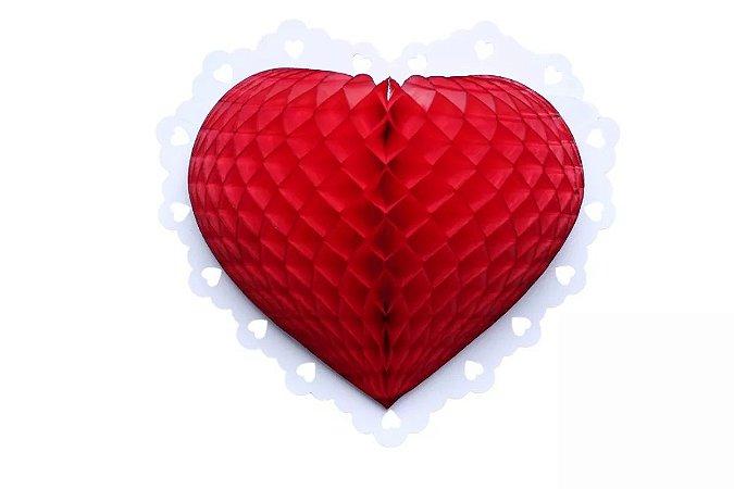 Enfeite de Papel Coração 22 cm