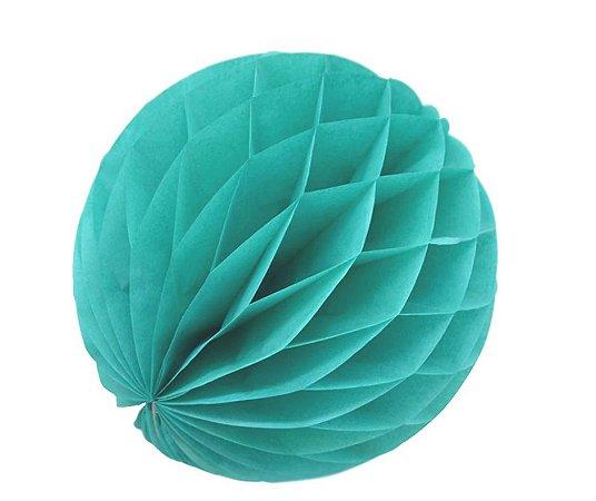 Enfeite Colmeia de Papel Azul 30cm