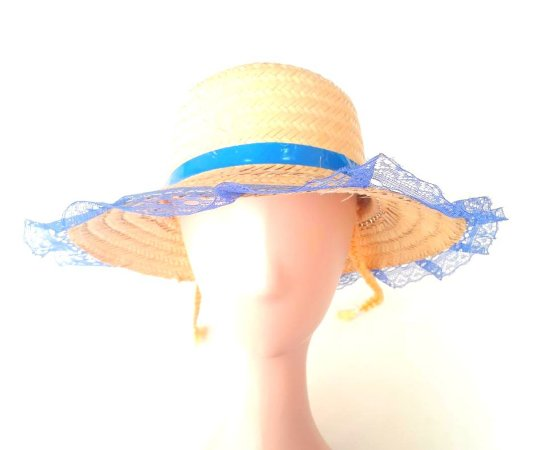 Chapéu Caipira Feminino Azul