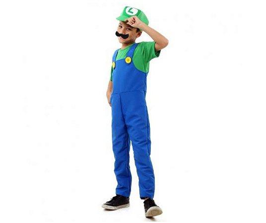 Fantasia Luigi luxo tam G 10 a 12 anos