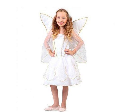 Fantasia Anjo Feminino M 6 a 8 anos