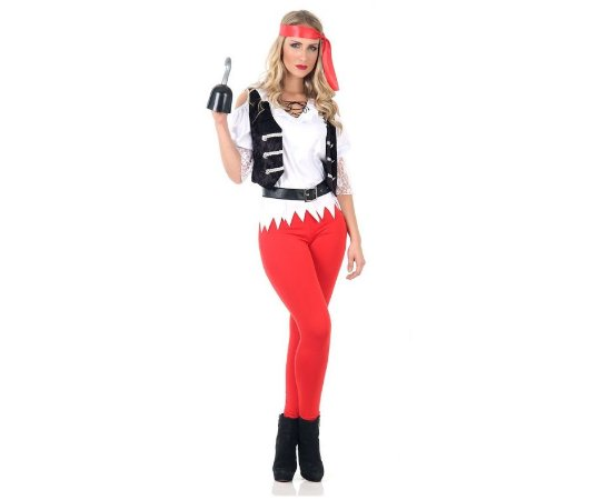 Fantasia Pirata Black Pearl Feminina tam M 42 a 44 - Usado