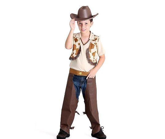 Fantasia de Cowboy Infantil Tamanho P 3 a 4 anos