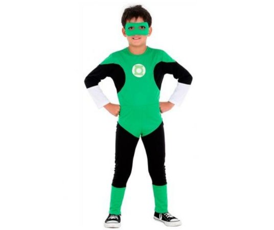 Fantasia Lanterna Verde Longo P 3 a 4 anos