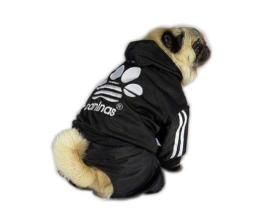 Conjunto Agasalho Caninas Preto Pet P