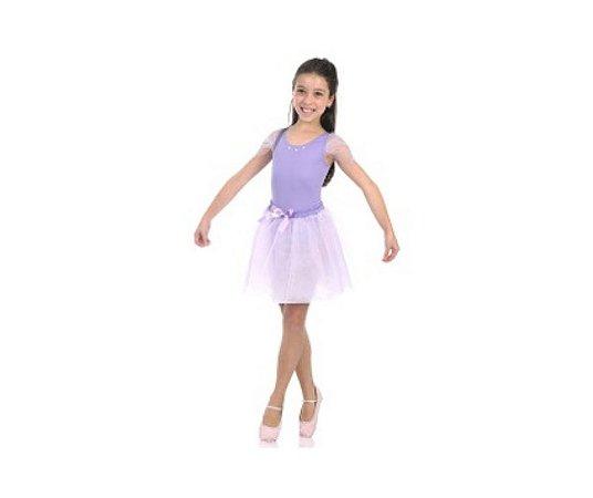 Fantasia Bailarina Lilás M - 6 a 8 anos
