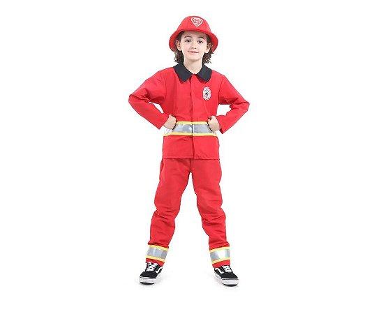Fantasia Bombeiro Infantil G 10 a 12 anos