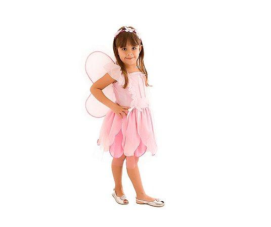 Fantasia Fadinha Encantada Rosa G 10 a 12 anos