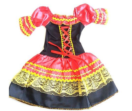 Fantasia Vestido Alemã Infantil tam 4
