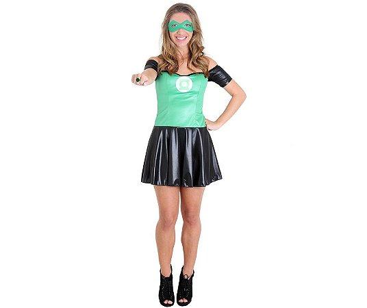 Fantasia Lanterna Verde Vestido tam M-36 - Usado