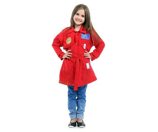 Fantasia DPA Vermelho Luxo Tamanho M 6 a 8 anos