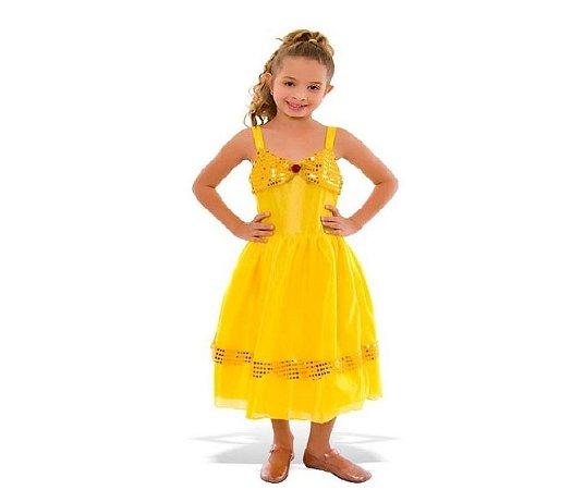 Vestido Bela com Alças Tamanho PP 2 anos