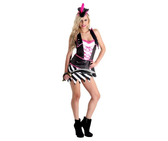 Fantasia Pirata Pink Adulto tam G 46/48 - Usado