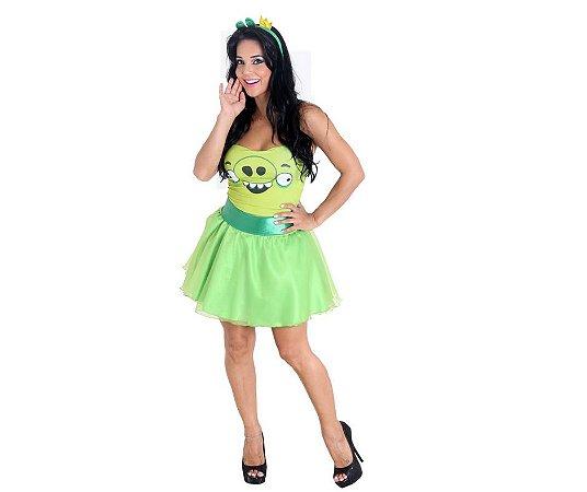 Fantasia Vestido Porco Verde Angry Birds tam M 42/44 - Usado