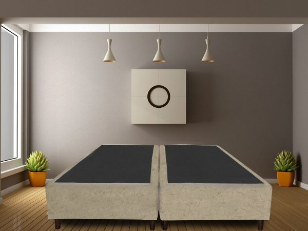 Base Box Queen Size Bege | Madrid | 158x198