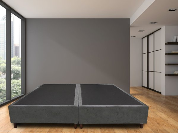 Base Box King Size Cinza | Madrid | 193x203