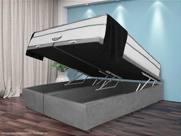 Base Box Baú Cinza Queen Size | 158x198