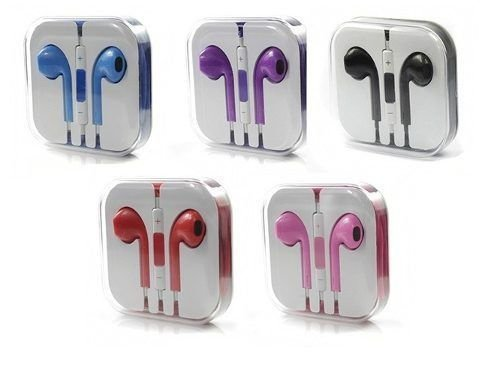 Fone De Ouvido P2 Para iPhone Earpods Colorido Na Caixa Acrílica
