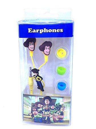 Fone De Ouvido Personalizado Toy Story Entrada P2 Estampa Sortida