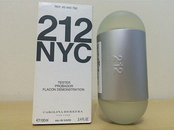 Téster 212 Nyc Carolina Herrera- Perfume Feminino Eau de toilette 100 ML