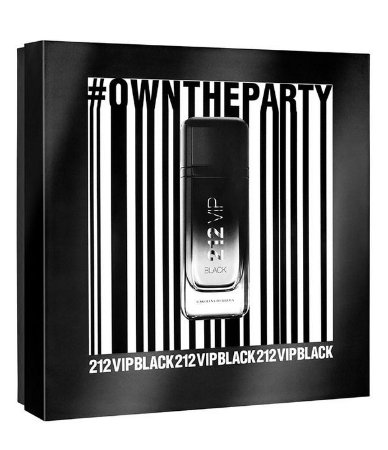 Kit 212 Vip Black Own The Party NYC Eau de Parfum Carolina Herrera - Perfume Masculino 100 ML + Gel de Banho 100 ML