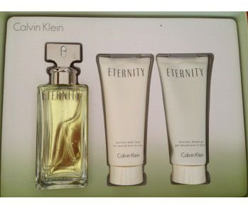 Kit Eternity Eau De Parfum 100ML + Hidratante 100ML + Gel De Banho 100ML - Perfume Feminino