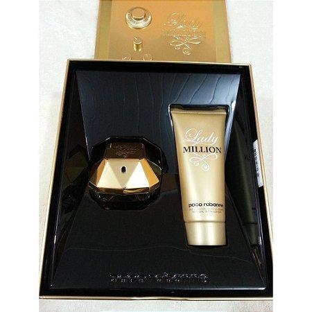 Kit  Lady Million-Perfume Feminino EDP 50ml + Loção corporal 100ML Paco Rabanne