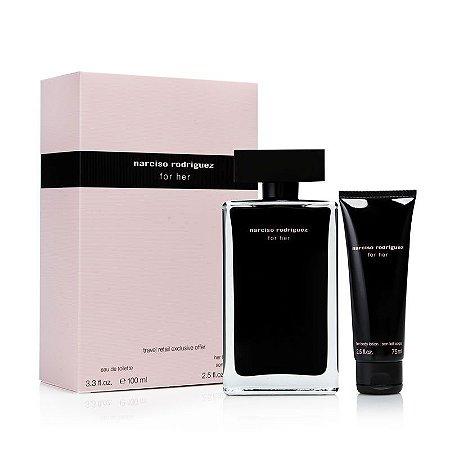 Kit Narciso Rodriguez For Her EDT - Perfume Feminino 100ml + Hidratante para Corpo 75ml