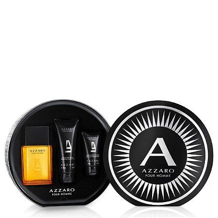 Kit Azzaro Pour Homme Eau de Toilette Azzaro - Perfume Masculino 100 ML + Shampoo 100 ML + Gel de Banho 50 ML
