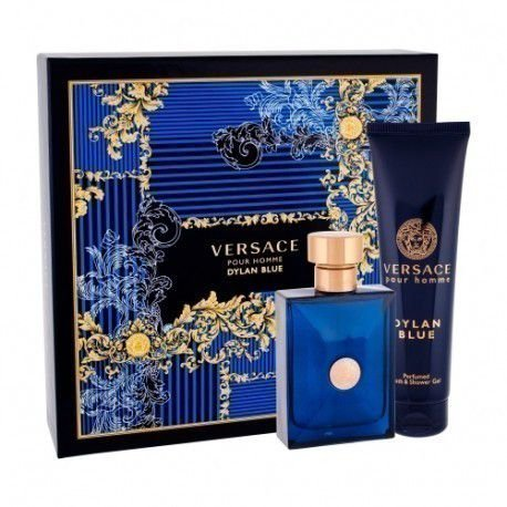 kit Versace Pour Homme Dylan Blue EDT - Perfumed Bath & Shower Gel 150 ML + Perfume Spray 100ML