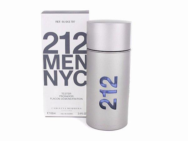 Téster 212 Men Eau de Toilette Carolina Herrera - Perfume Masculino 200 ML