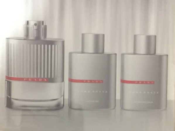 Kit Luna Rossa Eau de Toilette Masculino Prada - Perfume 100ml + Gel de banho 100ML + Pos barba 100ML