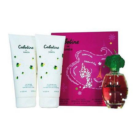 Kit Cabotine de Grés - Perfume Feminino 100ml + Loção Corporal 200ml+Gel de Banho 200ml