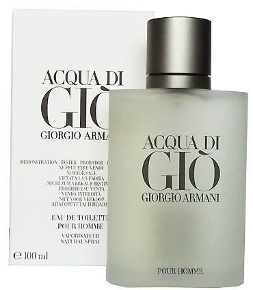 Tester Acqua Di Gio Homme Eau de Toilette Giorgio Armani - Perfume Masculino - 100ML
