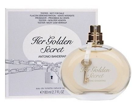 Téster Her Golden Secret Eau de Toilette Antonio Banderas - Perfume Feminino 80 ML