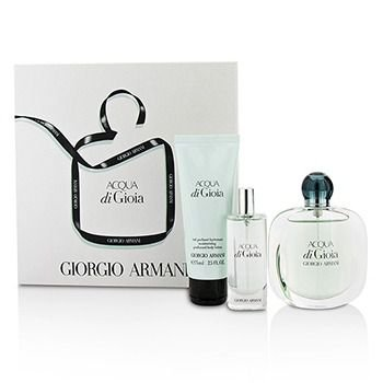 Kit Acqua Di Gioia Eau de Parfum Giorgio Armani - Perfume Feminino 50 ML + Miniatura 15 ML + Loção Corporal 75ML