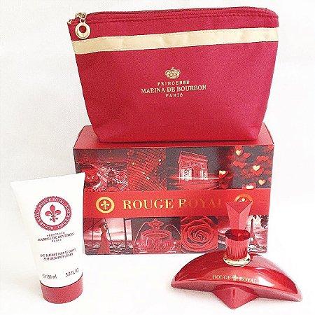 Kit Rouge Royal Eau de Parfum Marina de Bourbon - Perfume Feminino 100ML + Loção Corporal 150ML + Nécessaire