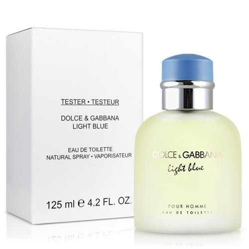 Téster Light Blue Masculino Eau de Toilette Dolce & Gabbana 125 ML