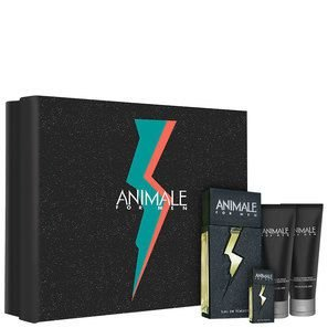 Kit Animale For Men  Perfume EDT 100ml + Pós-Barba 100ml + Gel de Banho 100ml + Miniatura
