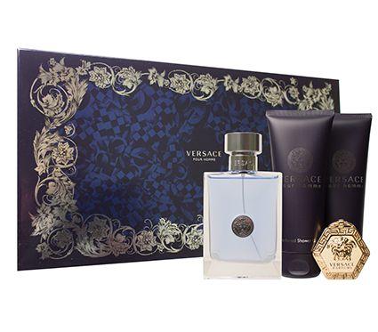 Kit Versace Pour Homme Eau De Toilette 100ML + Pós Barba De 100ML + Gel De 100ML