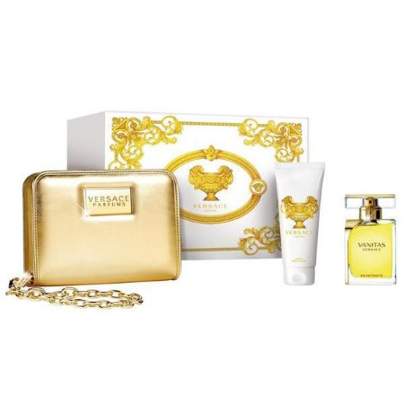 Kit Feminino Versace Vanitas Perfume EDT 100ML + Body Lotion 100ML + Necessaire