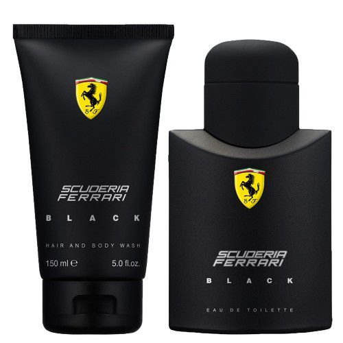 Kit Ferrari Black Eau de Toilette Masculino- Perfume 75 ML + Hair And Body Wash 150 ML