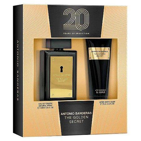 Kit Antonio Banderas The Golden Secret - Perfume EDT - 100ml + Pós Barba 75ml