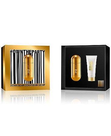 Kit 212 Vip Carolina Herrera New York 50 ML + Body Lotion 75 ML - Perfume Feminino