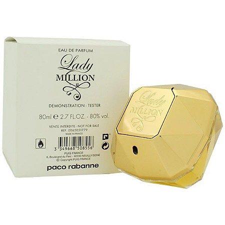 Téster Lady Milion Eau de Parfum Feminino Paco Rabanne 80 ML