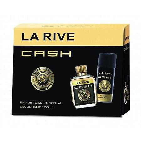 Kit Cash Masculino Eau de Toilette La Rive- Perfume 100 ML+Deodorante 150 ML