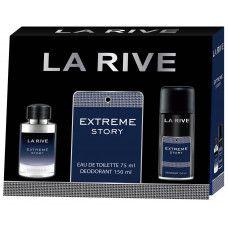 Kit Extreme Story La Rive- Perfume Masculino Eau de Toilette 75 ML+Deodorant 150 ML