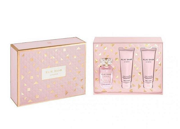 Kit Elie Saab Le Parfum Rose Couture 50 ML + Duas Loção Corporal 75 ML - Perfume Feminino